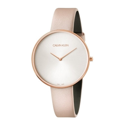 Picture of Calvin Klein Ladies' Full Moon Pink Leather Strap Watch