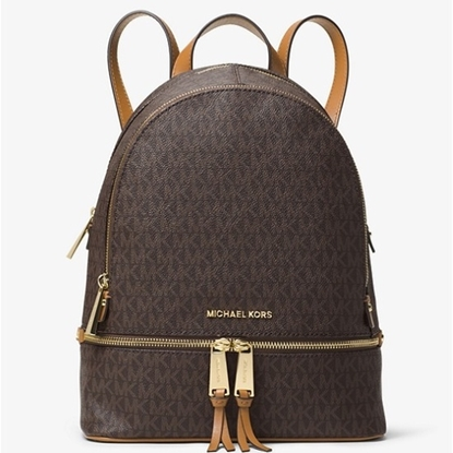 Picture of Michael Kors Rhea Zip Signature Medium Backpack