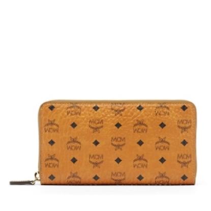Picture of MCM Visetos Original Large Zip-Around Wallet