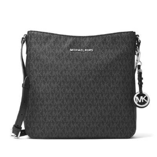 55934119b9807 Picture of Michael Kors Jet Set Travel Signature Large Messenger
