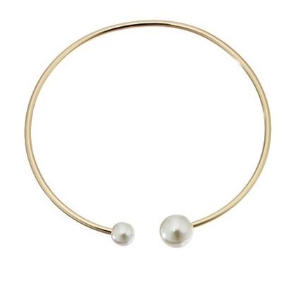 Picture of Rebecca Minkoff Pearl Collar Necklace - Gold/Pearl