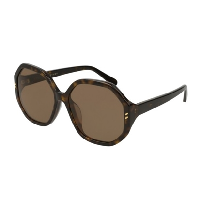 Picture of Stella Round Acetate Sunglasses - Black