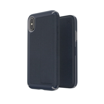 Picture of Speck iPhone Xs/X Presidio Folio Case - Eclipse Blue/Gunmetal