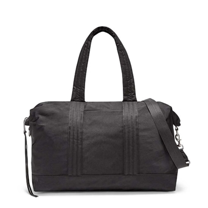Picture of Rebecca Minkoff Washed Nylon Weekender - Black