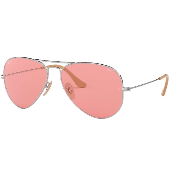 Picture of Ray-Ban® Evolve Aviators - Silver/Pink Photocromic
