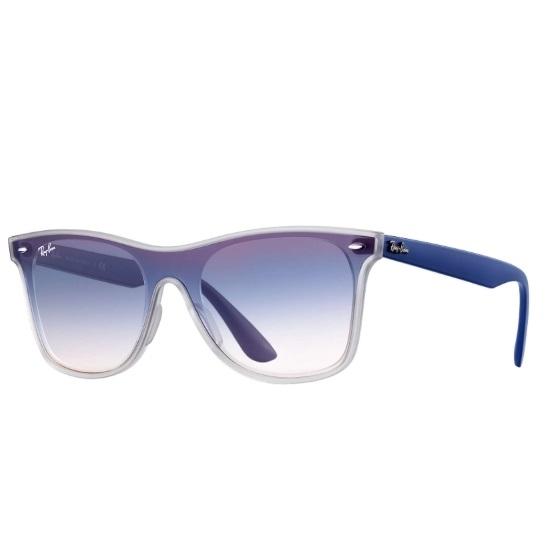 Picture of Ray-Ban® Blaze Wayfarer - Blue Nylon/Blue Gradient Mirror