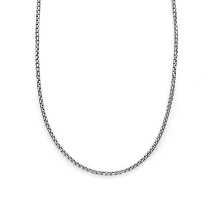 Picture of Nambe 24'' Rhodium/Sterling 2.5mm Round Box Chain