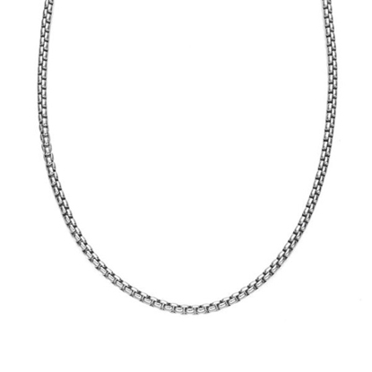 Picture of Nambe 24'' Rhodium/Sterling 3.3mm Round Box Chain