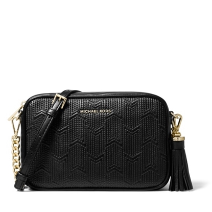 Picture of Michael Kors Medium Camera Bag - Black Quilted