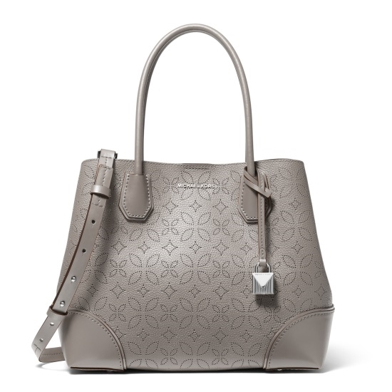 e37843b32a09 Picture of Michael Kors Mercer Gallery Center Zip Tote - Pear Grey Floral