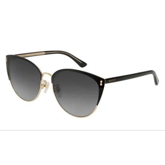 fa244a84de58 MileagePlus Merchandise Awards. Gucci Black/Gold Cateye Sunglasses ...