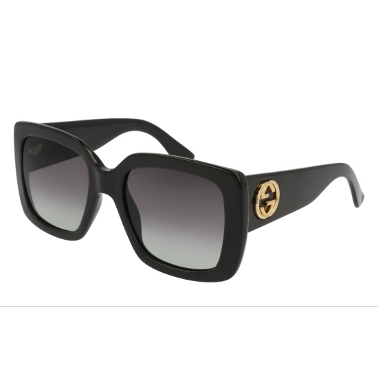 Picture of Gucci Square Acetate Sunglasses - Black/Grey
