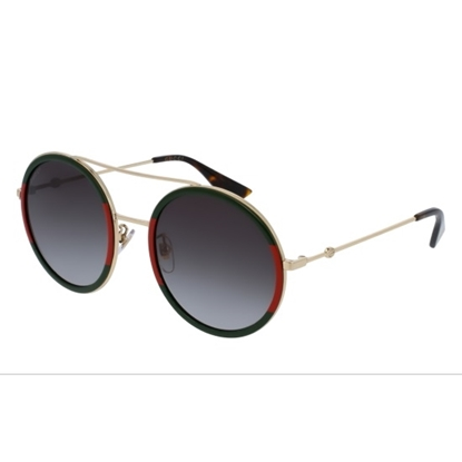 Picture of Gucci Round Grey Gradient Sunglasses - Gold/Green/Red