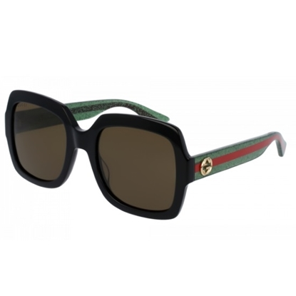 Picture of Gucci Urban Pop Oversized Square Sunglasses - Green/Red