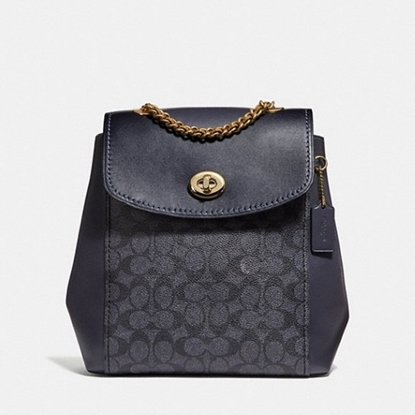 Picture of Coach Signature Parker Backpack - Charcoal/Midnight Navy
