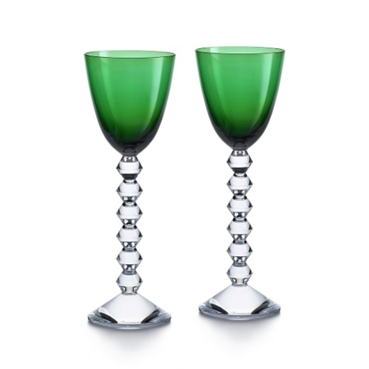 Picture of Baccarat Vega Rhine Wine Glasses - Green