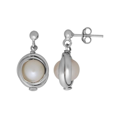 Picture of Silver Lining Knot of Love Drop Earrings