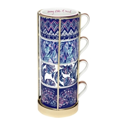 Picture of Lily Pulitzer Cappucino Mug Set - Assorted