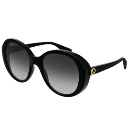 Picture of Gucci Ladies' Oval Sunglasses - Black/Grey
