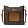 Picture of Michael Kors Gloria Signature Pocket Swing Pack - Brown/Bronze