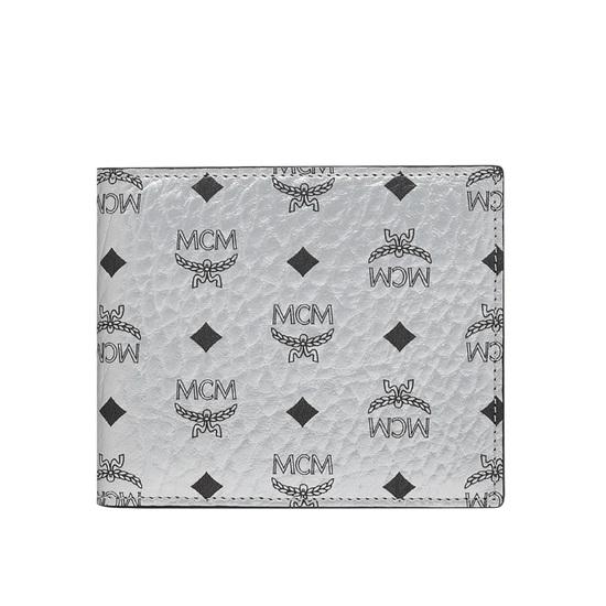 Picture of MCM Original Small Wallet - Berlin Silver Visetos