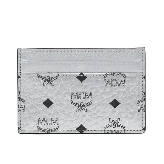 Picture of MCM Move Mini Card Case - Berlin Silver Visetos