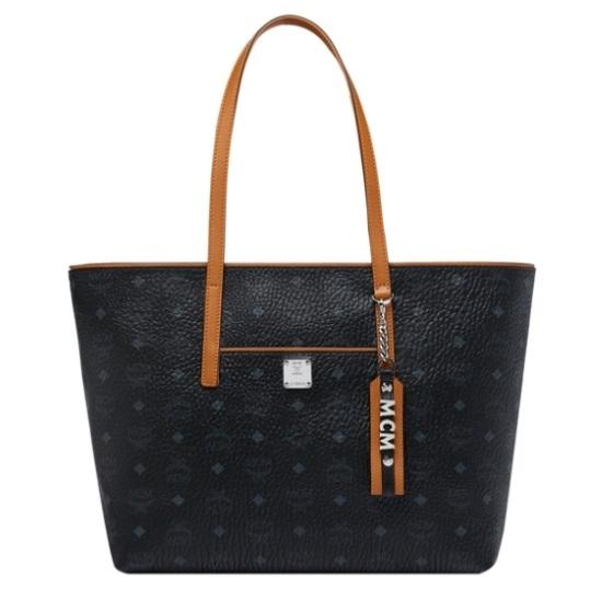Picture of MCM Anya Medium Shopper - Black/Cognac
