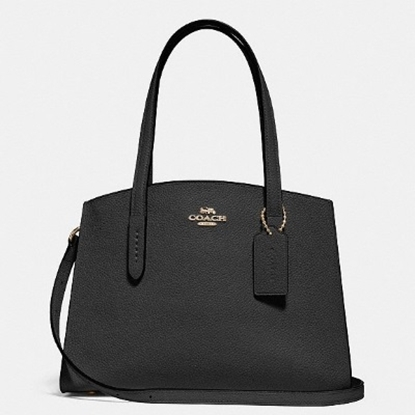 Picture of Coach Leather Charlie 27 Carryall - Black
