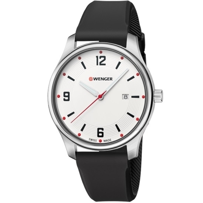 Picture of Wenger City Active Small Watch w/ White Dial & Silicone Strap