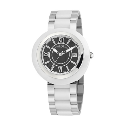 Picture of ALOR 37mm Watch with White Ceramic/Stainless Steel Bracelet