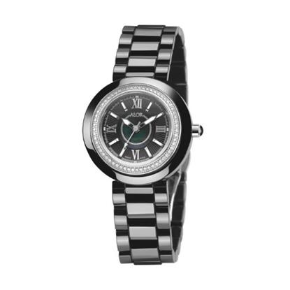 Picture of ALOR Watch w/ Ceramic/Stainless Steel Bezel & Ceramic Bracelet