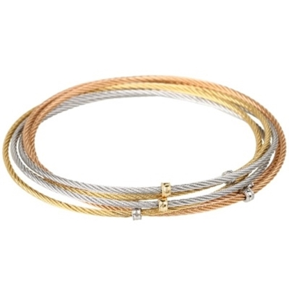 Picture of ALOR Modern Cable Mix 6 Row  Bangles