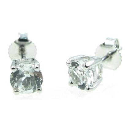 Picture of Lali 14K White Gold White Topaz Earring