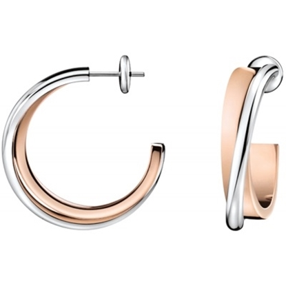 Picture of Calvin Klein Coil Two-Tone Earrings