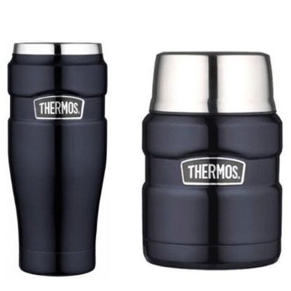 Picture of Thermos® Stainless King Tumbler and Jar Combo - Blue