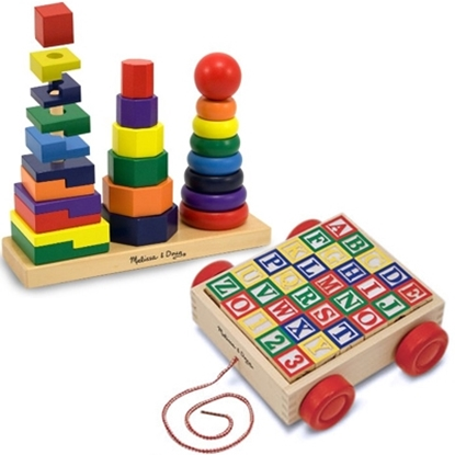 Picture of Melissa and Doug® Geometric Stacker & ABC Block Cart
