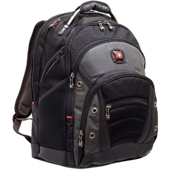 """Picture of Wenger® Synergy 16"""" Computer Backpack - Black/Grey"""