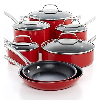 Picture of Circulon® Genesis 12-Piece Aluminum Cookware Set - Red