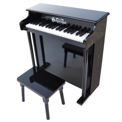 Picture of Schoenhut 37-Key Traditional Deluxe Spinet Piano - Black