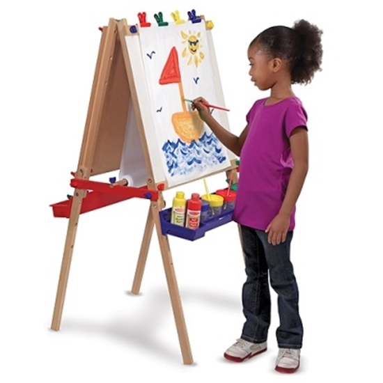 Picture of Melissa & Doug Deluxe Wooden Standing Art Easel w/ Accessories