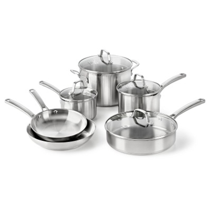 Picture of Calphalon® Classic Stainless Steel 10-Piece Cookware Set