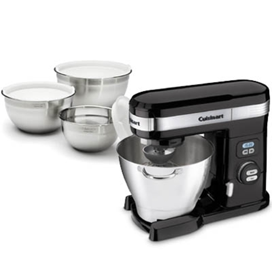 Picture of Cuisinart® 5.5-Quart Stand Mixer & Mixing Bowls - Black