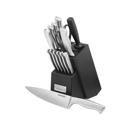 Picture of Cuisinart® 15-Piece Stainless Steel Knife Block Set