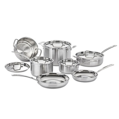 Picture of Cuisinart® Multiclad Pro Stainless Steel 12PC Cookware Set