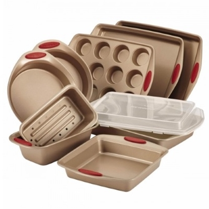 Picture of Rachael Ray Cucina 10-Piece Bakeware Set - Latte Brown