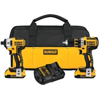 Picture of Dewalt 20V MAX XR Li-Ion Brushless Compact Drill Combo Kit
