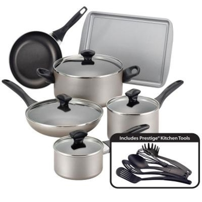 Picture of Farberware Dishwasher Safe 15-Piece Cookware Set - Champagne