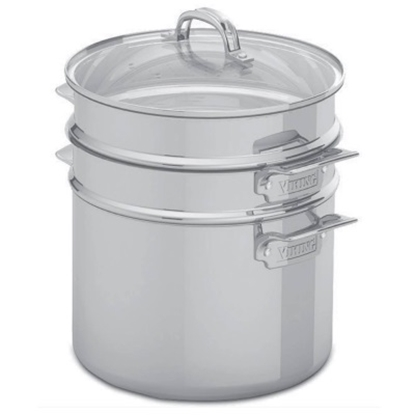 Picture of Viking 3Ply 8-Qt. Multi-Cooker/Pasta Pot with Steamer