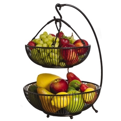 Picture of Mikasa Gourmet Basics Two-Tier Basket With Banana Hook