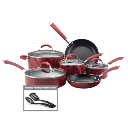 Picture of Farberware® Millennium Nonstick 12PC Cookware Set - Red